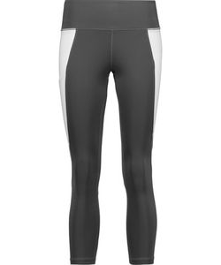 Purity Active | Cropped Two-Tone Mesh-Trimmed Stretch Leggings