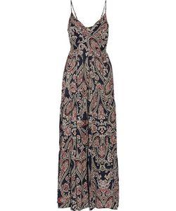 L'agence | Honore Smocked Printed Silk Maxi Dress