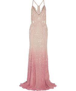 Roberto Cavalli   Dégradé Beaded Silk-Chiffon Gown