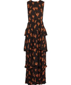 A.L.C. | A.L.C. Arias Tiered Print Silk-Crepe Maxi Dress