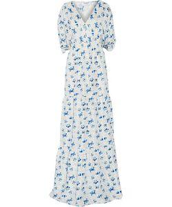 Vilshenko   Printed Silk-Voile Maxi Dress