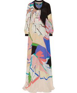 Roberto Cavalli   Layered Printed Silk Gown