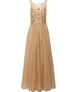 Marchesa Notte | Pleated Embellished Tulle Gown