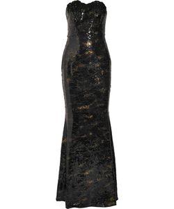 Marchesa Notte | Appliquéd Sequined Crepe Gown