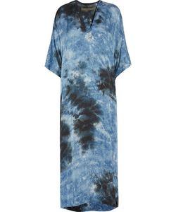 Enza Costa   Tie-Dyed Satin Maxi Dress