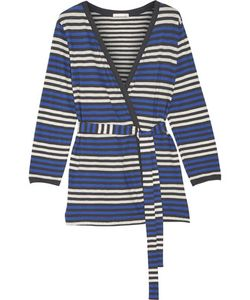 Skin | Bianca Striped Cotton-Jersey Robe