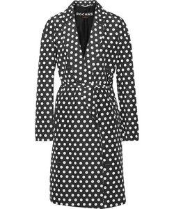 Rochas | Polka-Dot Cotton And Silk-Blend Twill Coat