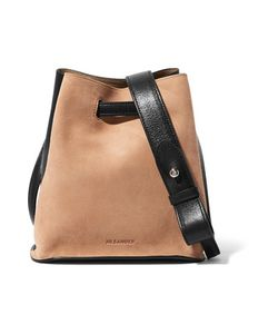 Jil Sander | Small Two-Tone Leather And Suede Bucket Bag