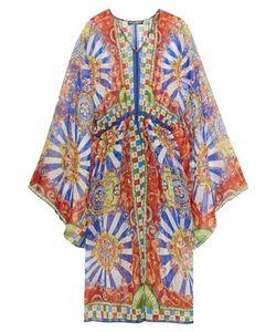 Dolce & Gabbana   Carretto Printed Silk-Chiffon Kaftan