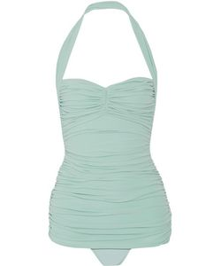 Norma Kamali | Bill Mio Ruched Halterneck Swimsuit