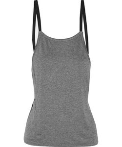 Live The Process   Grosgrain-Trimmed Marled Jersey Top