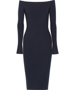 Jason Wu | Off-The-Shoulder Ribbed Stretch Wool-Blend Dress