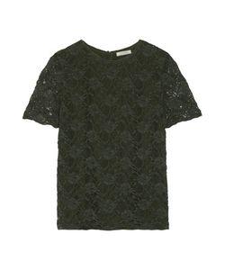 Nina Ricci | Stretch Cotton-Blend Lace Top
