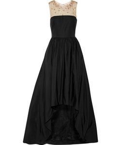 Marchesa Notte | Tulle-Trimmed Embellished Cotton-Blend Gown