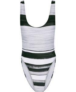 Norma Kamali | Marissa Striped Swimsuit