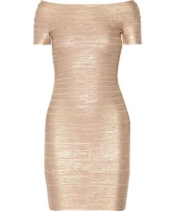 Hervé Léger | Carmen Off-The-Shoulder Bandage Mini Dress Rose