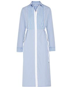 Rosetta Getty | Striped Cotton-Poplin Midi Dress