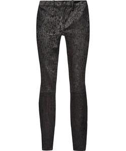 J Brand | Leopard-Print Suede Skinny Pants