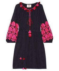 Figue | Woman Coco Embellished Embroidered Cotton-Gauze Mini Dress Size
