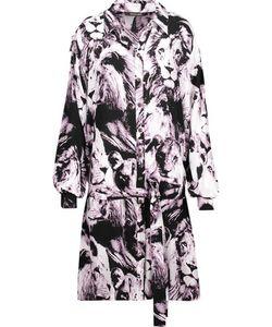 Roberto Cavalli | Belted Printed Silk Mini Dress
