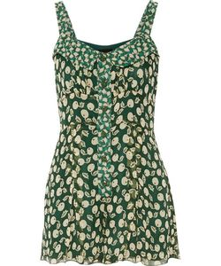 Anna Sui | Printed Silk-Georgette Playsuit