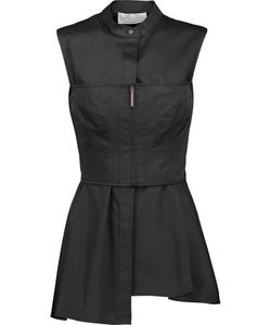 Jason Wu | Laye Corset-Effect Cotton-Twill Peplum Top