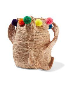 Muzungu Sisters | Pompom-Embellished Woven Fique Shoulder Bag