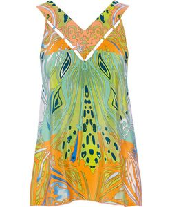 Emilio Pucci | Cutout Printed Silk-Georgette Top