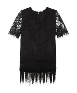 Adam Lippes | Layered Fringed Chantilly Lace Top