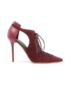 Malone Souliers | Montana Lace-Up Suede And Leather Pumps