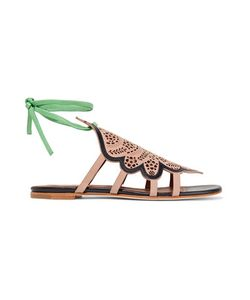 Malone Souliers | Ella Laser-Cut Suede And Leather Sandals