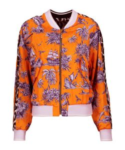 Just Cavalli | Printed Satin-Twill Bomber Jacket
