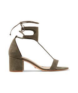 Schutz | Lutecia Lace-Up Nubuck Sandals