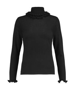 N.Peal Cashmere | Ruffle-Trimmed Cashmere And Silk-Blend Turtleneck Sweater