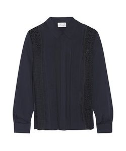 Tanya Taylor | Estelle Lace-Paneled Silk Crepe De Chine Shirt
