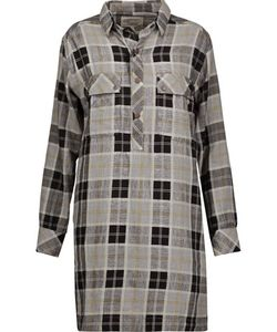 Current/Elliott | The Lara Plaid Cotton Mini Dress