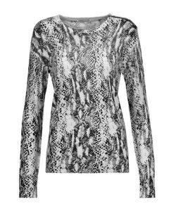 Equipment | Ondine Snake-Print Silk And Cashmere-Blend Sweater Off-