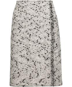 Nina Ricci | Frayed Wrap-Effect Cotton-Blend Bouclé-Tweed Skirt