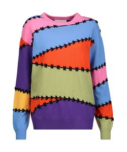 Moschino | Embroidered Wool And Cashmere-Blend Sweater