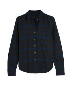 Equipment | Kate Moss London Checked Brushed-Cotton Shirt
