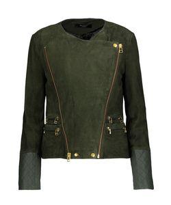 Muubaa | Gloster Leather-Trimmed Suede Biker Jacket