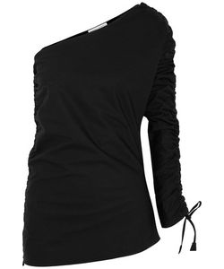 Barbara Casasola | Ruched Asymmetric Cotton-Gabardine Top