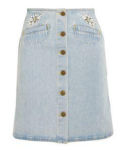M.i.h Jeans | Embroidered Denim Mini Skirt