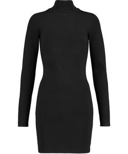 Dion Lee | Cutout Stretch-Knit Turtleneck Mini Dress