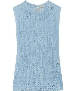 Nina Ricci | Gathered Broderie Anglaise Cotton-Poplin Top