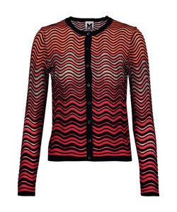 M Missoni | Metalli Tulle-Trimmed Textured Stretch-Knit Cardigan
