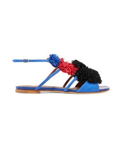 Malone Souliers | Sherry Tassel-Trimmed Suede Sandals