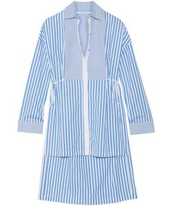 Rosetta Getty | Tuxedo Pinstriped Cotton-Poplin Shirt