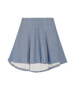 Alice + Olivia | Sibel Pleated Linen-Blend Mini Skirt