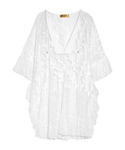 Emilio Pucci | Lace-Trimmed Embroidered Cotton-Blend Mesh Kaftan